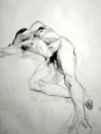 Reclining Male Nude.