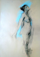 Standing Nude with Blue.