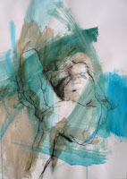 Reclining Nude, Green & Blue.